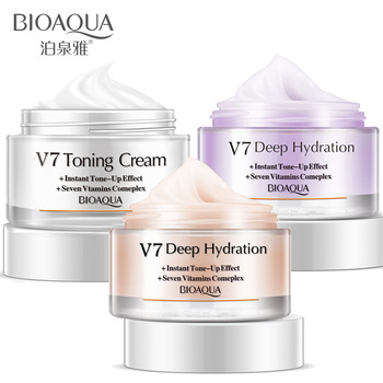 Bioaqua Crystal Clear Moisturizing V7 Natural Core Cream Brightening Skin Color Base Noble Lady Fair