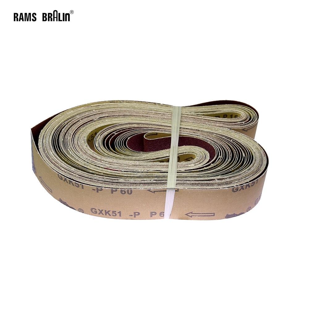 20 Pieces 2000 * 50 Mm P40-800 Abrasive Sanding Belts Wood Soft Metal Coarse Grinding  To Fine Polishing