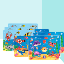 Small Number Wooden Fishing Board Toy Baby Ocean Fishing Game Platter Magnetic Toy 1-3 Years Old Magnet Set  Magnetic Toy