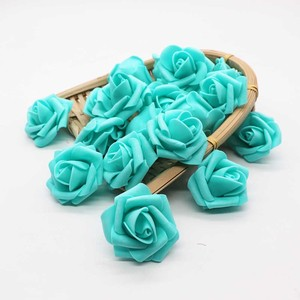 Image 2 - 4cm 30 sztuk/partia Big PE pianki Rose sztuczny kwiat głowy dekoracji ślubnej domu DIY Scrapbooking wieniec fałszywe dekoracyjne Ros