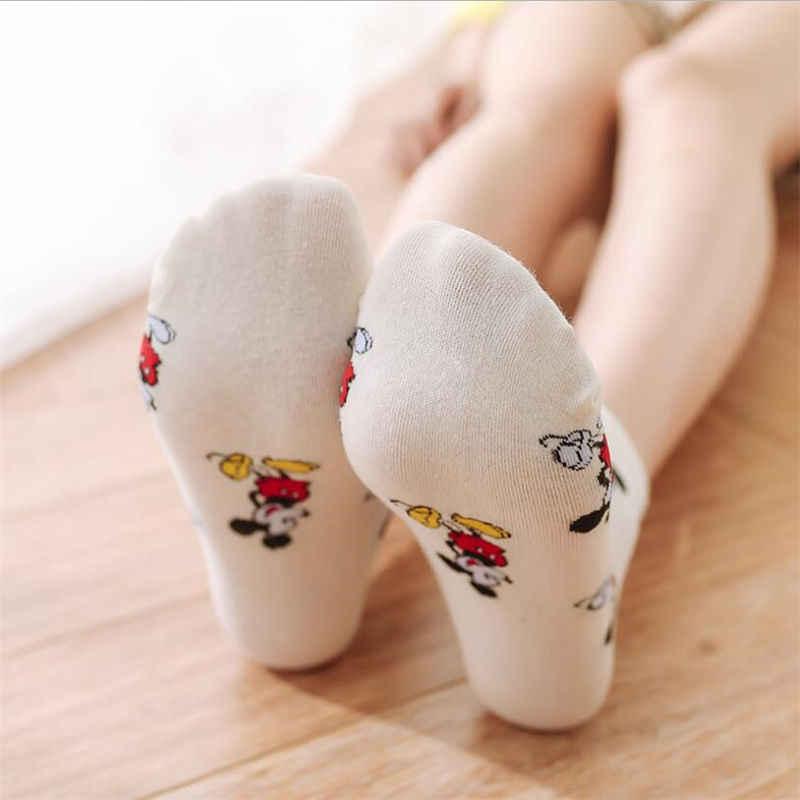 Novas mulheres desenhos animados meias senhoras Japonesas Macio e respirável meias meias de algodão barco meias Curtas para as mulheres