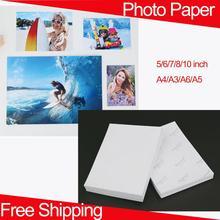 Photo Paper Inkjet Photo Paper Glossy Photo Paper 5/6/7/8/10 Inch Printer Paper A4/A3/A6/A5 Paper Photo Paper Glossy 200g