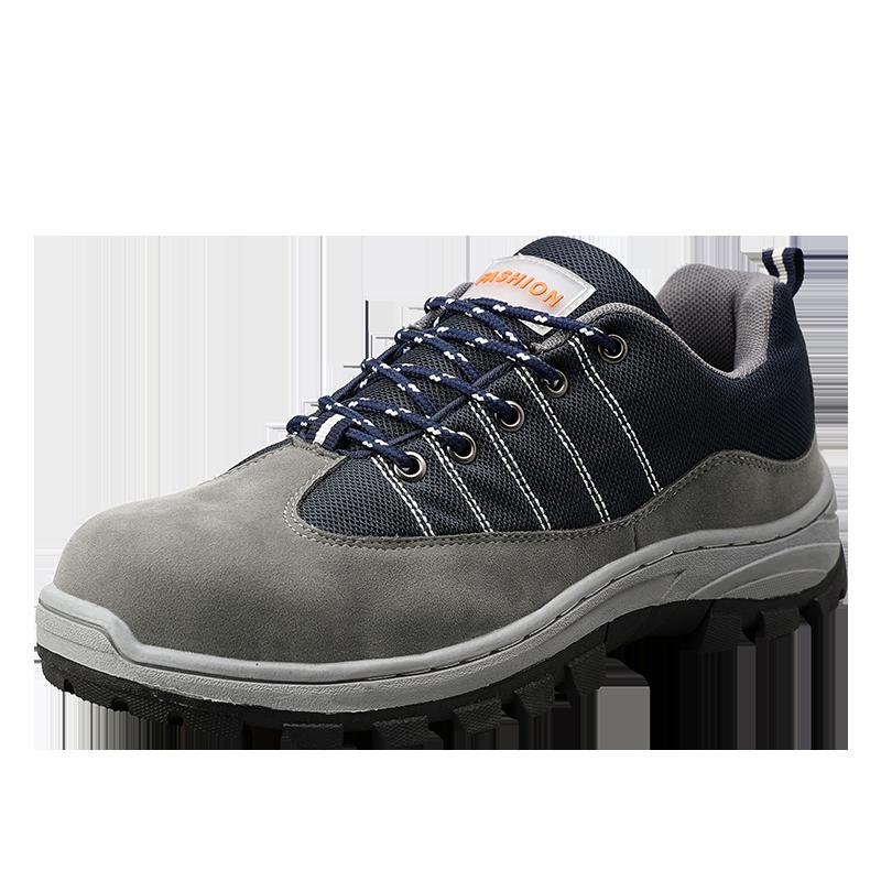 Erkekler için güvenlik ayakkabıları çelik ayak botları açık delinme dayanıklı çelik alt İş güvenliği botları rahat endüstriyel ayakkabı AODLEE