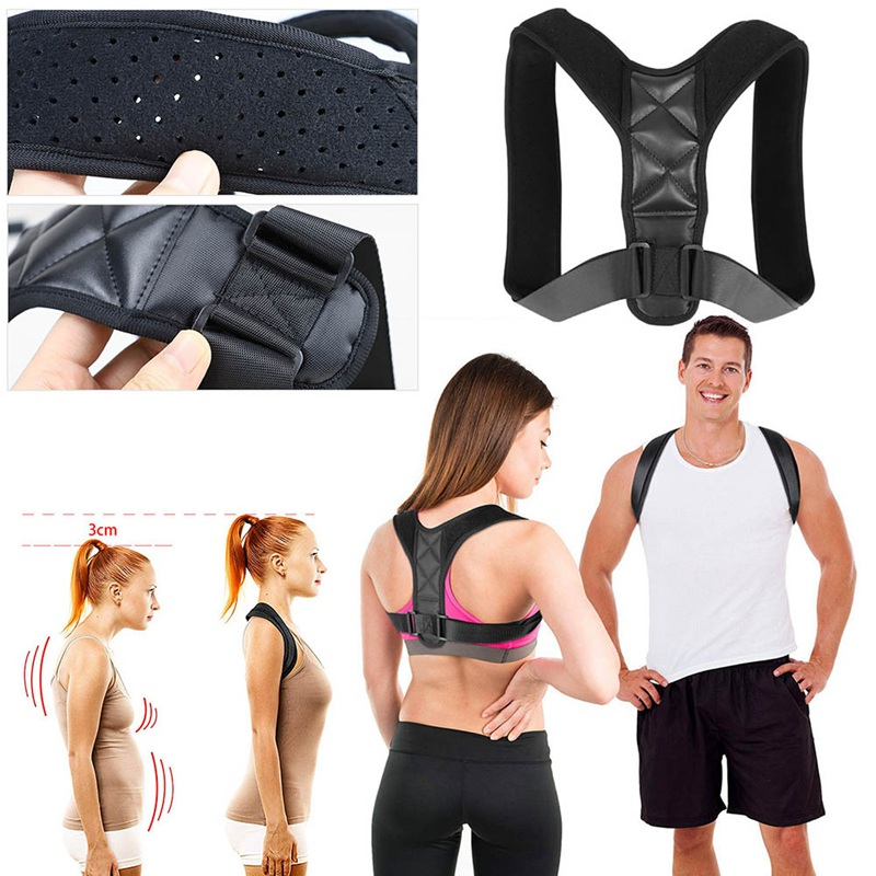 Adults Body Posture Corrector Adjustable To All Body Sizes Off Shoulder Posture Correction Therapy Wrap Back Support Belt