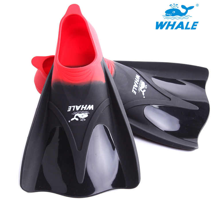 Whale Silicone Flippers Short Swim Fins Swimming Diving Snorkeling Training Breaststroke Flipper Freestyle Equipment