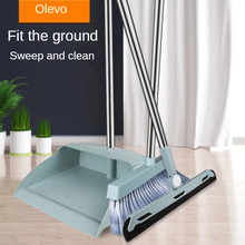 Windproof Broom & Dustpan With Broomstick Cleaning Brush Long Comb Teeth Home Floor cleaning Broom and Dustpan Litter Picker