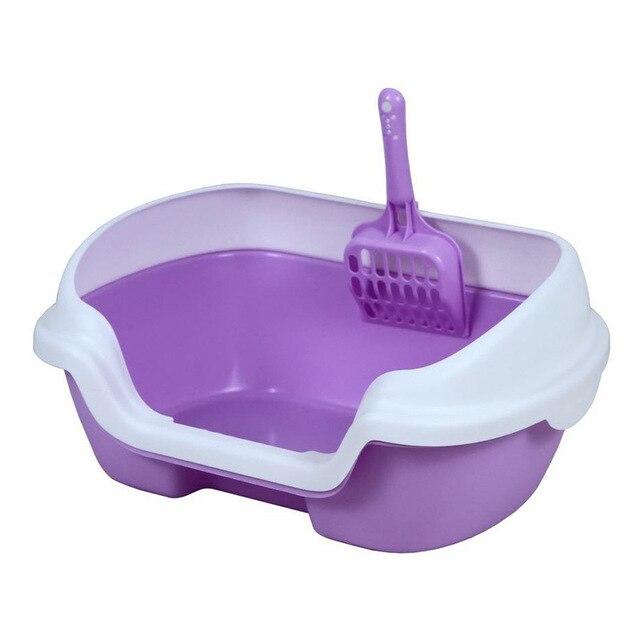 Pet dog Cat Toilet Training Bedpan self cleaning Litter Box Anti Splash Puppy Home Plastic Sandbox cat toilet training
