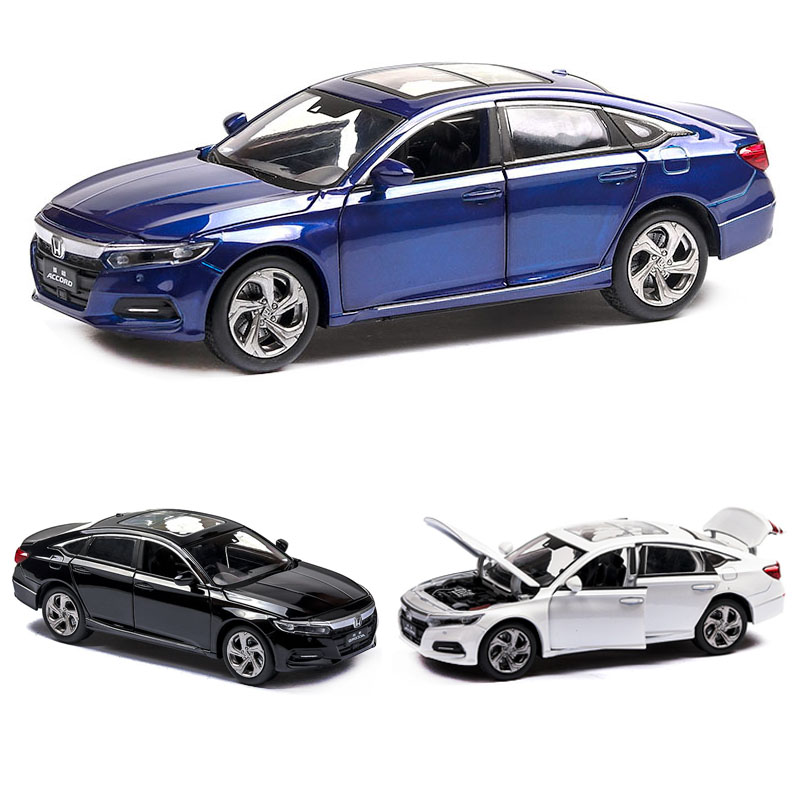 1:32 Honda Accord Model Die-casting Model Sound And Light Car Children's Toy Collectibles Free Shipping