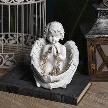 Anjo escultura sala de estar decoração enfeites mesa janela gabinete do vinho decoração artesanato decoracion hogar moderno