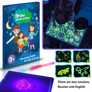 Toy Drawing-Board-Set Light-In-Dark Girls Kids Children A3 A5 A4 with Funny English-Langues