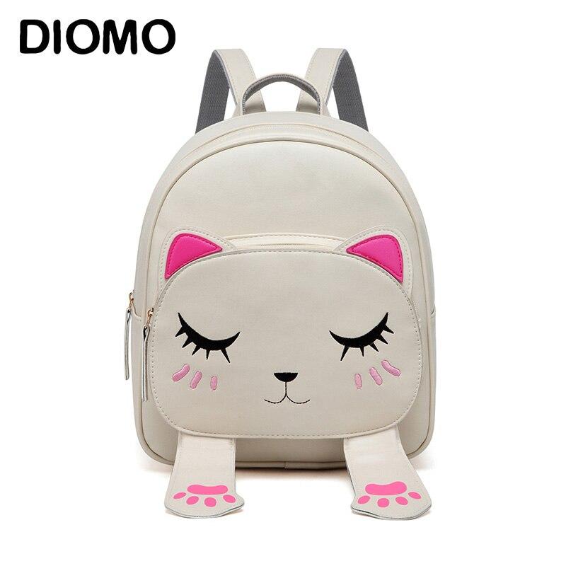 Diomo bonito mochilas para meninas saco do sexo feminino pequenas mochilas para adolescentes mulheres mochila crianças bagpack sac a dos