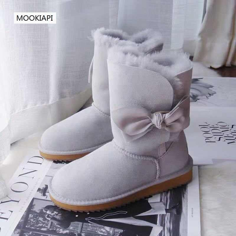 Australia's new sheepskin-and-100%wool women's snow boots in 2019, 100% pure wool women's barrel shoes, five colors