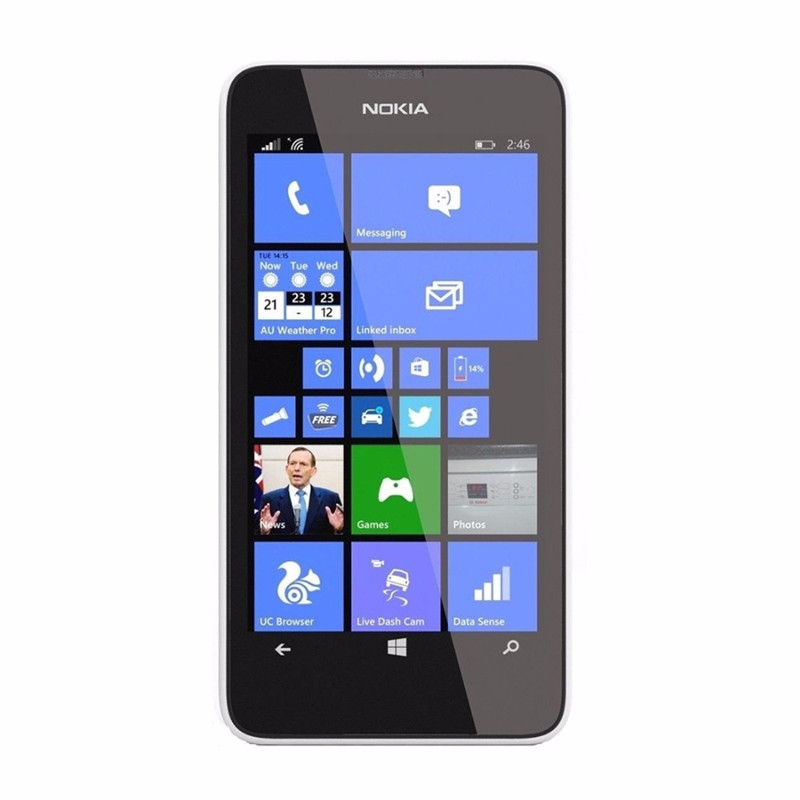 "Nokia Lumia 635 мобильный телефон Windows OS 4,"" четырехъядерный 8G rom 5.0MP wifi gps 4G LTE разблокированный мобильный телефон - Цвет: White"