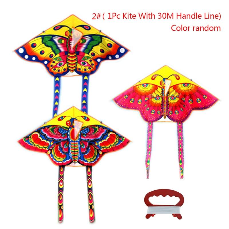 1 шт. Спорт на открытом воздухе бабочка Летающий воздушный змей с намоточная доска Струны для детей игрушки игры 90*50 см