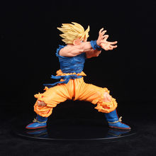 Dragon Ball Z figurki Son Goku Super Saiyan 2 Anime Dragon ball Super Kamehameha zabawki-modele do kolekcjonowania 170mm