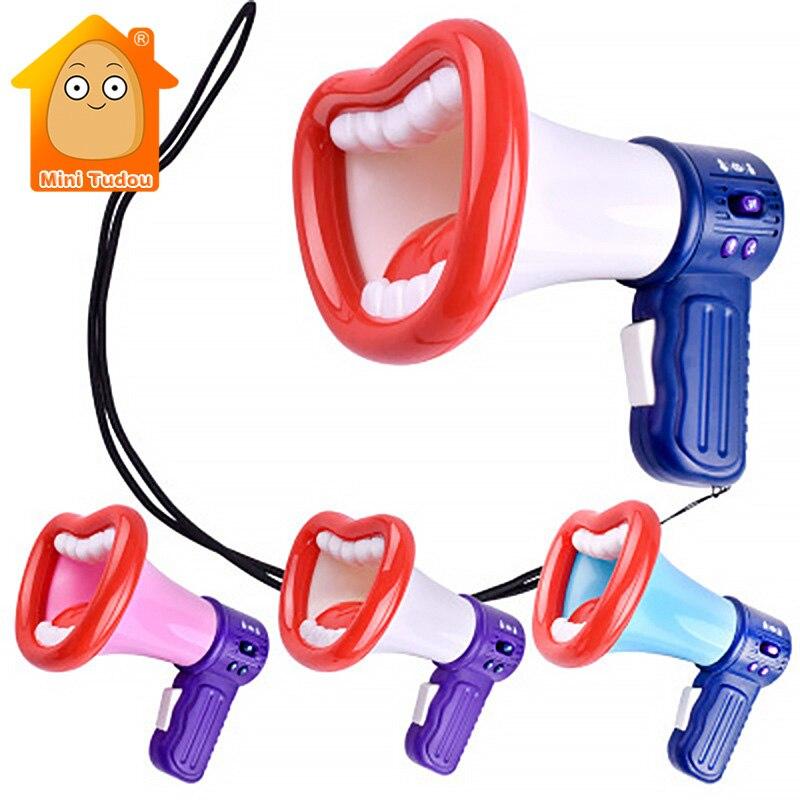 engracado trocador de voz chifre brinquedo colorido plastico festa altifalante jogo gags e piadas praticas presente