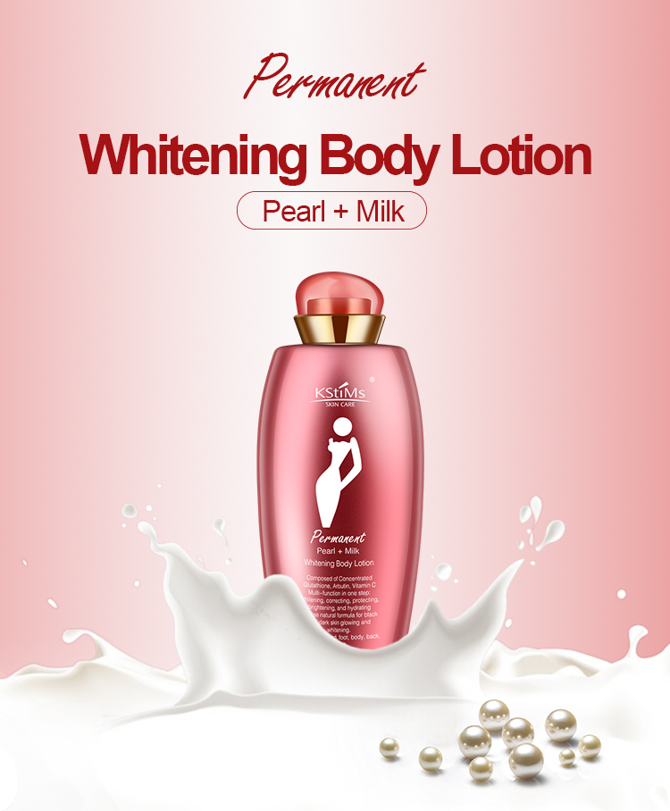 300ml Coconut Pearl Black Skin Body Whitening Lotion Milk Best Glutathione White Whitening Cream Body Lotion Collagen