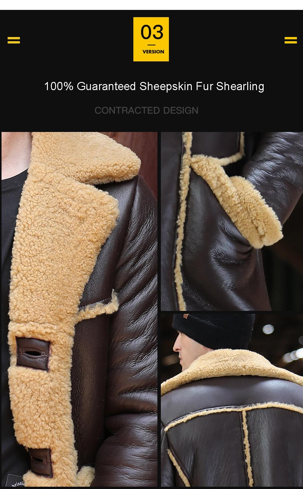 He0d32f62f8f440969a8063f3c183768ef Men Luxury Fur Shearling Coat Yellow Soft Thicken Fur Coat Winter Male Formal Business Fur Sheepskin Jackets