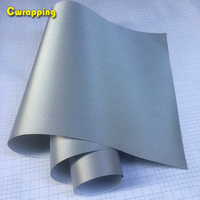 1.52*20m Car Styling Silvet Matt Brushed Aluminum Car Wrap Vinyl Film Sheet Motorcycle Automobiles Car Stickers Decal