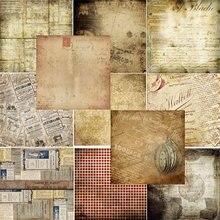 24 pçs/lote material retro papéis diy scrapbooking álbum diário presente papel decorativo scrapbooking