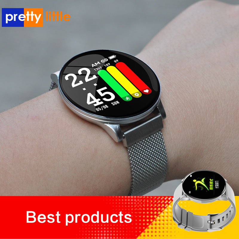 W8 Smart Woman Watch Ladies Weather Forecast Fitness Sports Tracker Heart Rate Monitor Smartwatch Android Women Men's  Watches