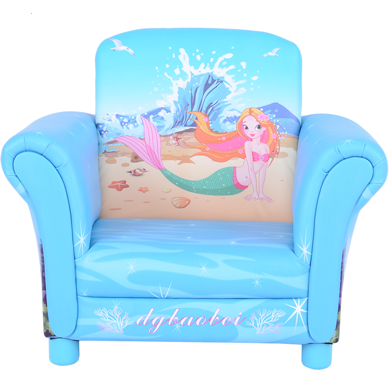 Cartoon Mermaid Fairy Tale Small Children Sofa Lovely One Seat Princess Kid Sofa Bean Bag Zitzak Kids Bedroom Baby Furniture