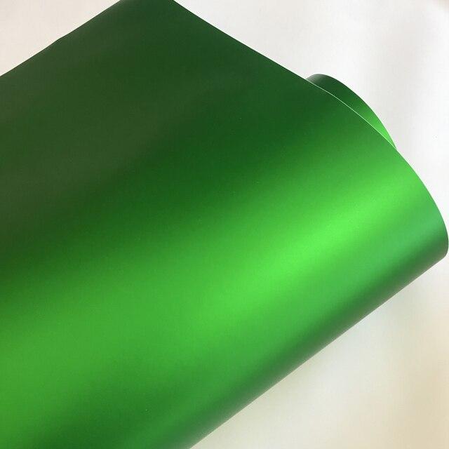 10/20/30/40/50X152CM Matt Metallic Green Vinyl Air Release Adhesive Matte Chrome Car Wrap Foil Motorcycle Scooter Sticker Decal
