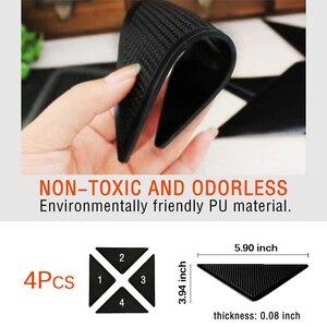 Image 2 - 4 sztuk/zestaw wielokrotnego użytku zmywalny dywan mata dywanowa chwytaki antypoślizgowe silikonowe maty do kąpieli Grip Protect dla domu do łazienki do pokoju gościnnego pokój