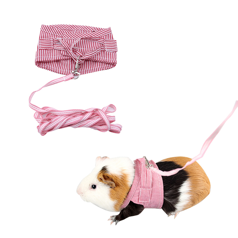 2 Colors Hamster Rabbit Harness And Leash Set Ferret Guinea Pig Small Animal Pet Walking Lead Rope Pet Supplies