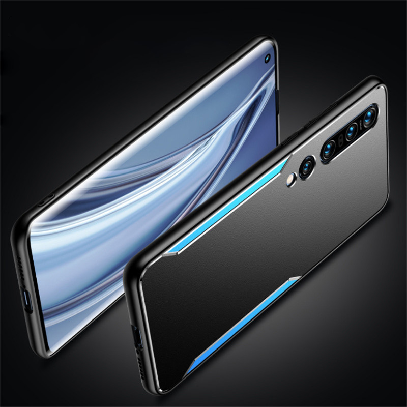 For Xiaomi Mi 10 Pro Case Shockproof Metal Aluminum TPU Protect Cover For Xiaomi Mi 10/Mi 10 Pro/Mi 10 Lite 5G Phone Case