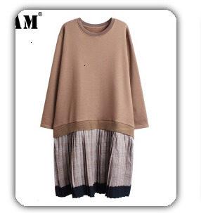 [EAM] 2019 Spring Plus Size Long Shirts Women Blouses Long-sleeve White Loose Tops Black White Cotton Shirt Big Size C006111 36