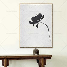Flower Black And WHITE Best Sell Chinese Style Oil Pianting Bright Handpainted Abstract Painting For Living Room Home Decor