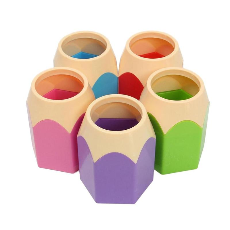 Cute Pencil Head Hit The Pen Barrel Table To Collect Supplies Stationery Supplies