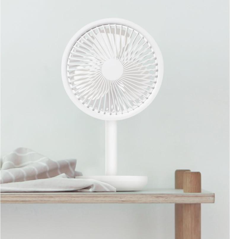 XIAOMI SOLOVE Desktop Fan 60 Shaking Head 3rd Gear Wind Speed Adjustable 4000mAh USB Rechargeable Wireless Fan For Home Office