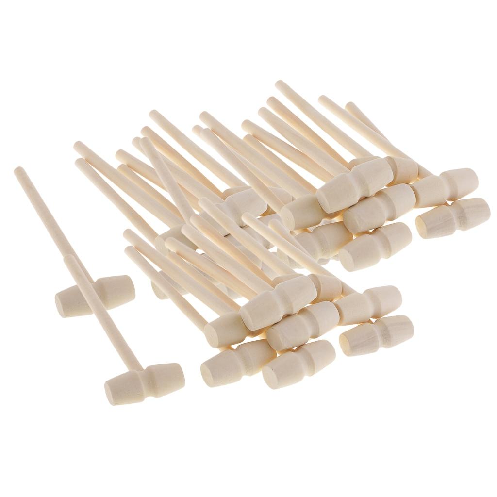 30 шт. деревянный молоток, деревянные мелкие детали, партия металлических крекеров