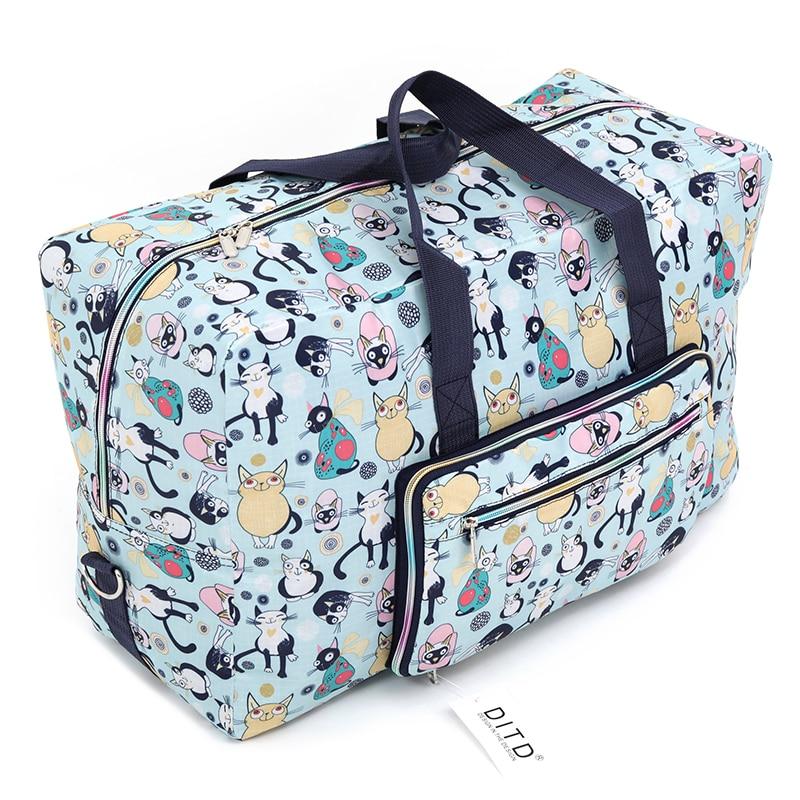 Travel Luggage Duffle Bag Lightweight Portable Handbag Sheep Print Large Capacity Waterproof Foldable Storage Tote