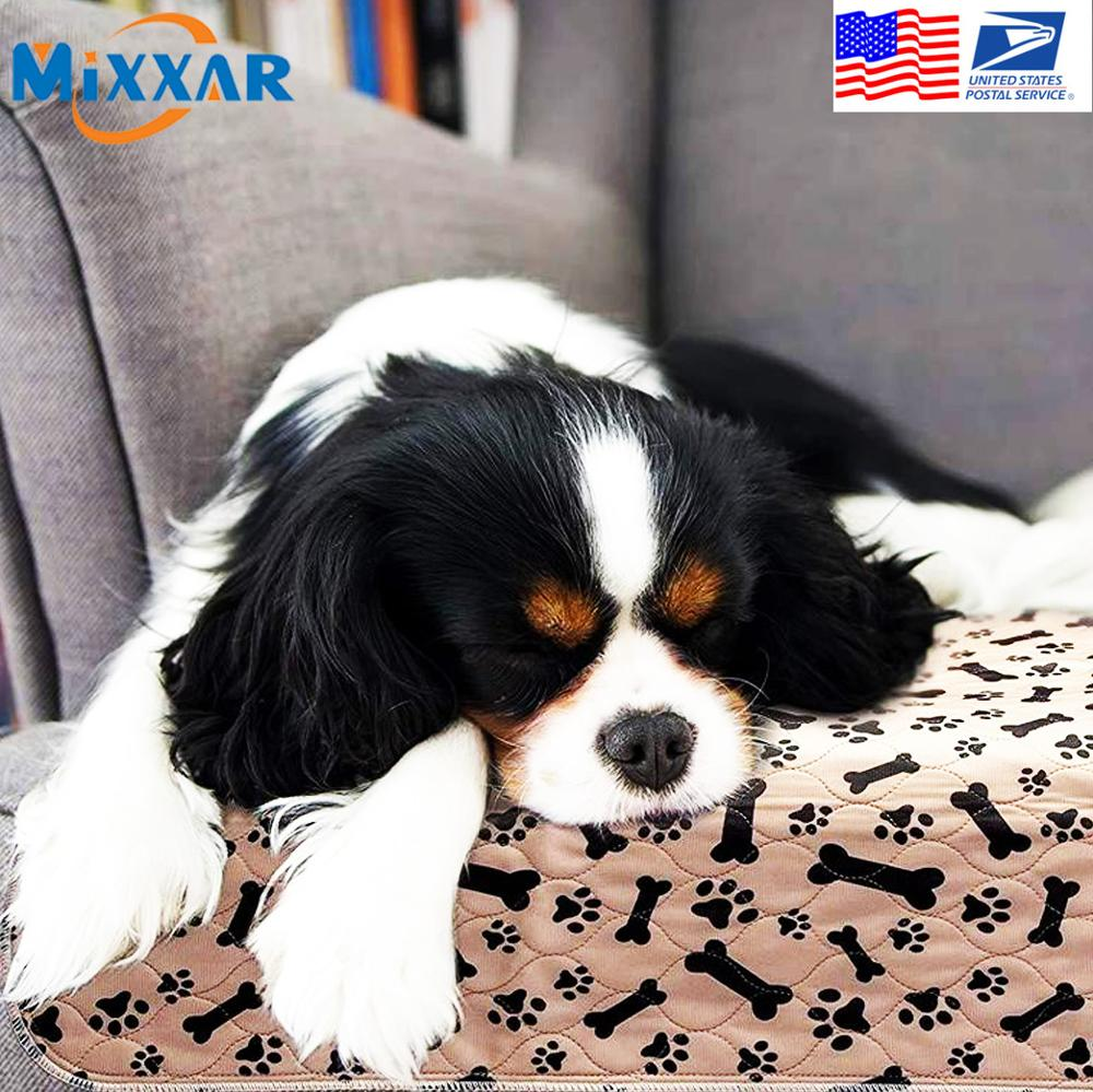 Dropshipping Waterproof Reusable Dog Bed Mats Dog Urine Pad Puppy Pee Fast Absorbing Pad Rug for Pet Training USA Stock 1