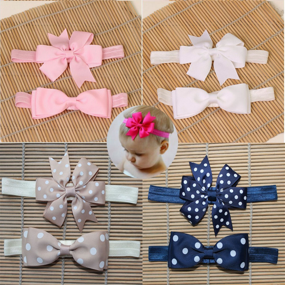 2pcs Simple Ribbon Scrunchies Kids Children Girls Elastic Hair Rubber Bands Accessories Tie Hair Rope Ring Holder Headdress