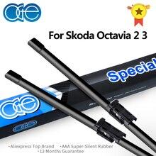 OGE lames dessuie glace avant et arrière pour Skoda Octavia 2 3 A5 A7 1996 2017, accessoires de voiture en caoutchouc de haute qualité