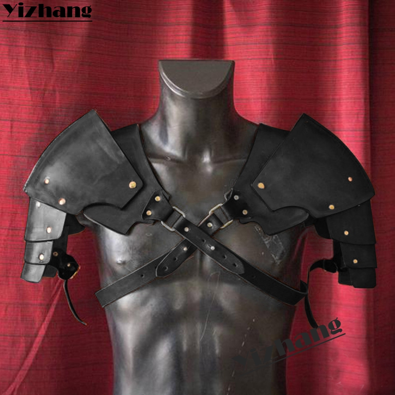 Medieval Shoulder Armor Pauldrons Warrior Leather Stage party Halloween Cosplay