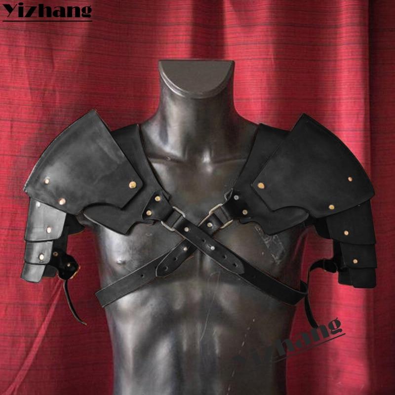 Yizhang Medieval Viking Warrior Gladiator Samurai Battle Knight Pauldrons Shoulder Armor Renaissance Vintage Party props Cosplay(China)