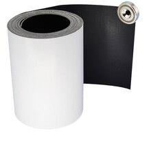 1 м самоклеющаяся гибкая магнитная лента Белая Резина широкая магнитная лента 100 мм толщина 1 мм