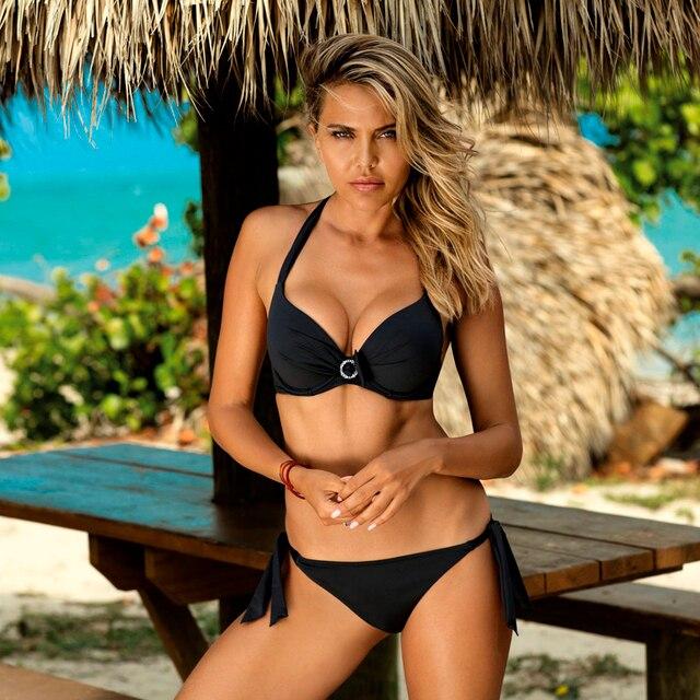 Bikini Sexy de talla grande 2020, juego de Bikini estilo Push Up, traje de baño rosa para mujer, Micro traje de baño para mujer, Bikini de dos piezas para fiesta en la playa XL
