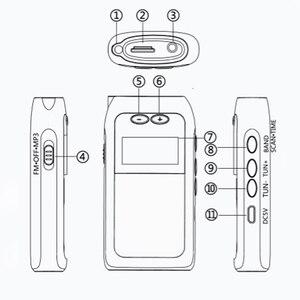 Image 2 - K605 mini bolso rádio fm am sw mw sintonização digital receptor de rádio mp3 player música onda média/onda curta/fm rádio estéreo