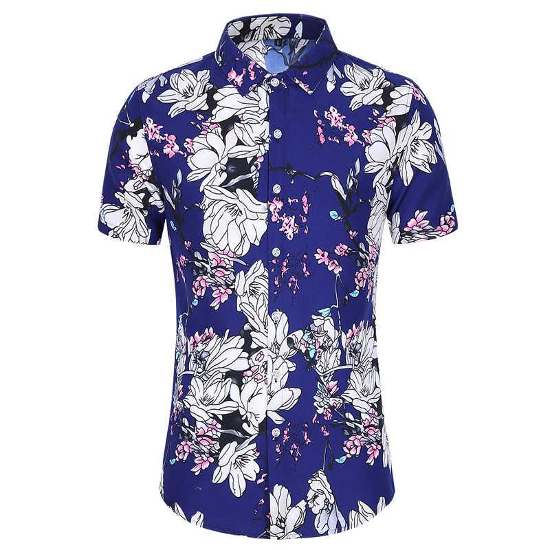Strand Shirts 2020 Sommer Mode camisa masculina Coconut Baum Gedruckt Kurzarm Taste Unten Hawaiian Shirts Herren Plus größe