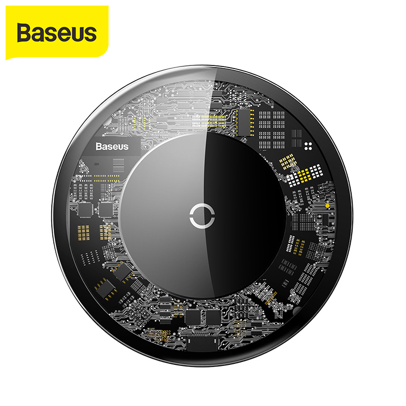 Baseus 10W QI Wireless charger For iPhone X wireless charging charger for Samsung Galaxy S9 xiaomi mobile phone USB charger pad Mobile Phone Chargers     - title=