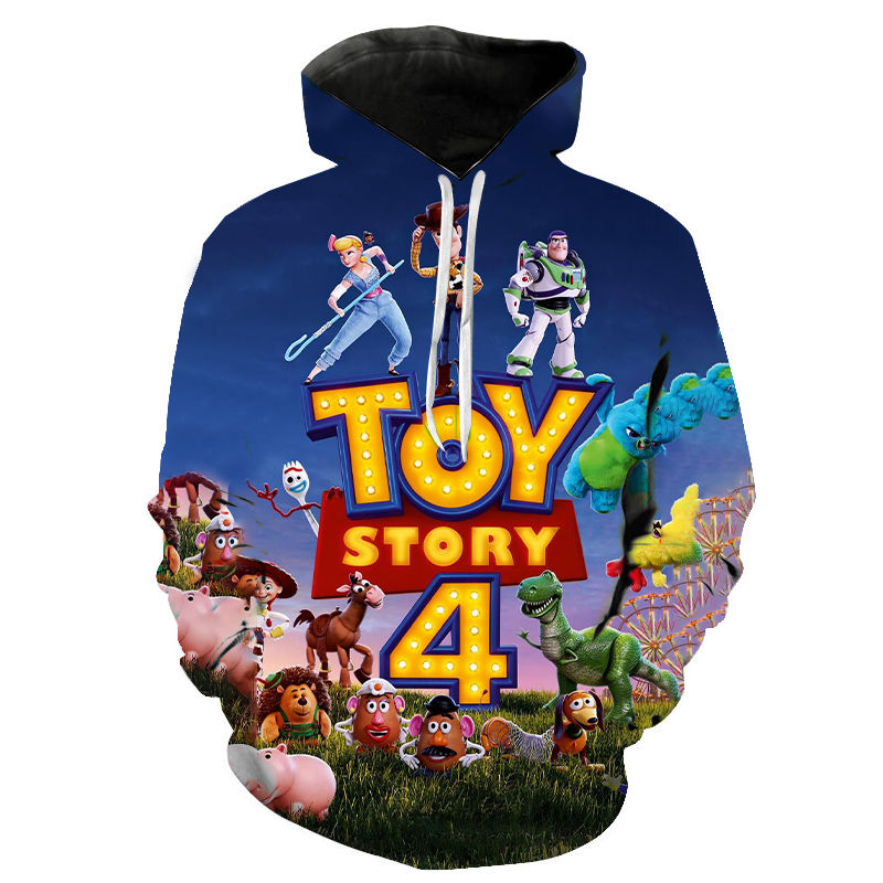 2020 Cartoon Anime 3D Hooded Men Women Sweatshirts Boys Girls Toy Story Season 4 Printed Hoodies Children Fashion Pullover Tops image