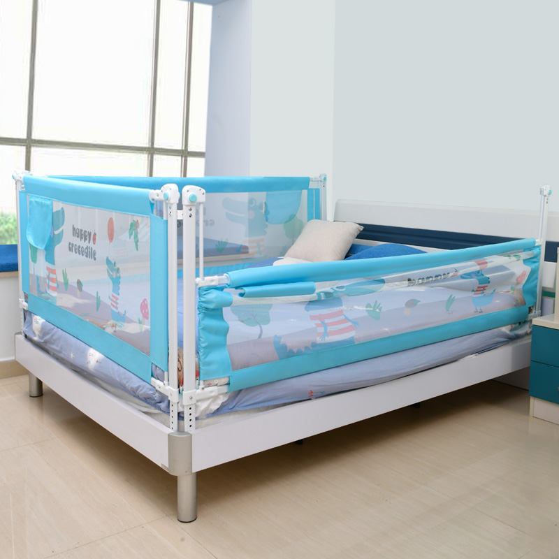 Baby Bed Safety Gate with Rails to Protect the Child from Falling Down the Bed while Sleeping or Playing 5