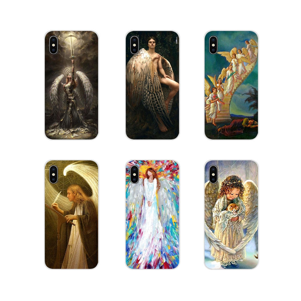 Painting Angels Are <font><b>Watching</b></font> Over You 2018 Cases For <font><b>Huawei</b></font> G7 G8 P7 P8 P9 P10 <font><b>P20</b></font> P30 Lite Mini <font><b>Pro</b></font> P <font><b>Smart</b></font> Plus 2017 2018 2019 image