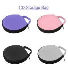 Портативный чехол для CD, DVD, 20 емкостей, сумка из ткани Оксфорд для хранения, Круглый держатель на молнии для дома, автомобиля, сумка для CD-бок...